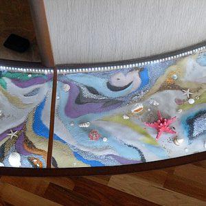 Стеклянный пол в квартире 2
