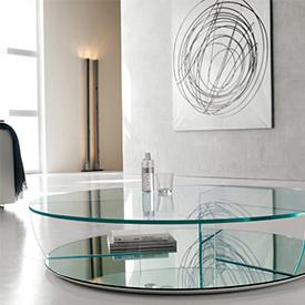 Стеклянный стол круглый