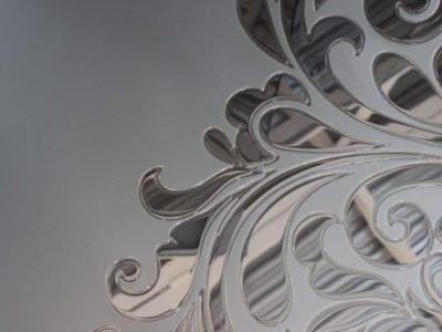 Зеркало сатин с заливным витражом