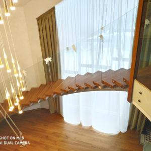 Лестница ограждения из стекла
