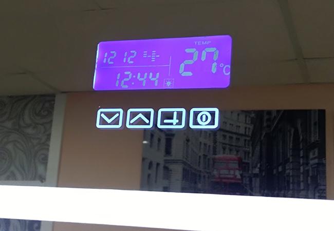 сенсор с таймером и температурой