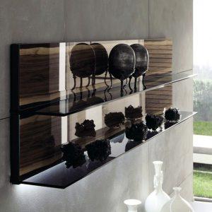 Полка навесная стекло